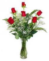 Half Dozen Deluxe Long-Stemmed Red Roses