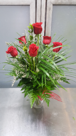 Half Dozen Red Roses $50.95, $55.95