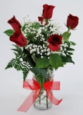 HALF DOZEN RED ROSES Flower Arrangement