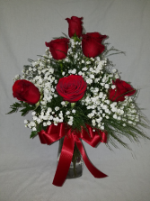 Half dozen red roses Rose Arrangement