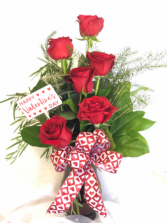 Half dozen red roses  LOCAL DELIVERY ONLY