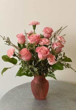 Half Dozen Rose and Carnation  in La Grande, OR | FITZGERALD FLOWERS