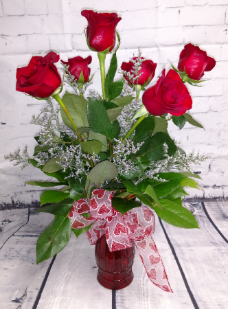 Half Dozen Roses In Highmore Sd Amber Waves Floral Gifts