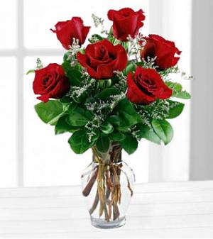 Half Dozen Roses  in Clinton, AR   Main Street Florist & Gifts