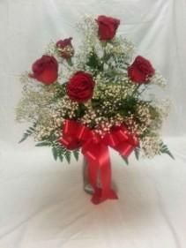 Half Dozen Roses Bouquet