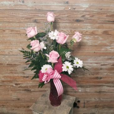Half Dozen Roses Valentine's Day