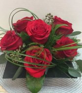 Half Dozen Roses  in Huntsville, Alabama | Bishop's Flowers