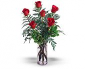 Half Dozen Roses  Vase Arrangement