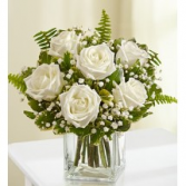 Half Dozen White Roses Fresh Arrangement