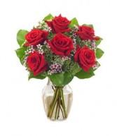Half dz roses Vase Arrangement