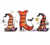 Halloween Candle Holder; each or set of 3 Seasonal Gift
