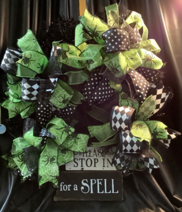 Halloween Deco Wreath WF-H001 Halloween Deco Mesh Wreath