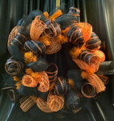 Halloween Deco Wreath WF-H003 Halloween Deco Mesh Wreath