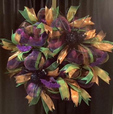 Halloween Deco Wreath WF-H004 Halloween Deco Mesh Wreath