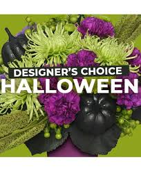 Halloween Designer's Choice Arrangement Fresh mixed Halloween arrangement