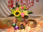 Halloween Golden Bowl Margot's Delivery Area Only