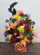 Halloween Lights  Fresh Flower Keepsake  (local delivery only)