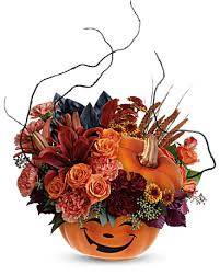 Halloween Magic Pumpkin Keepsake w/ Fresh in Saint Marys, PA | GOETZ'S FLOWERS