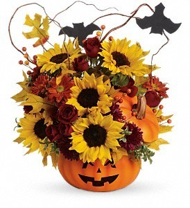 Halloween Pumpkin Floral Arrangement  in Saint Simons Island, GA | A COURTYARD FLORIST