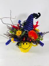 Halloween Smiles  Container Arrangement
