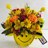 Halloween Smiles Container Arrangement
