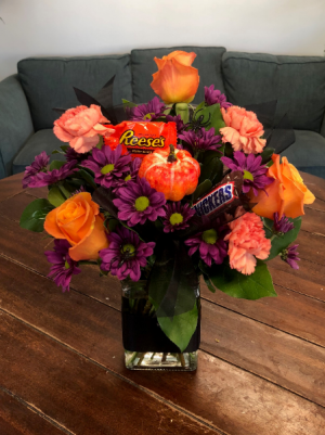 Halloween Treat  Vase Arrangement in Bluffton, SC | BERKELEY FLOWERS & GIFTS