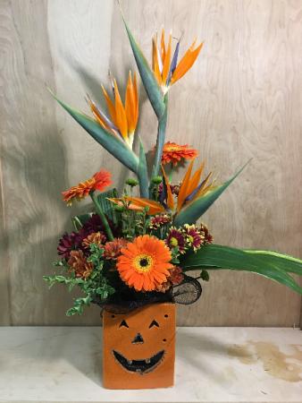 Halloween Tropical Arrangement Fresh Floral Arrangement