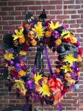 Halloween Wreath Funeral