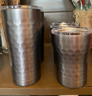 Hammered Gun Metal 12oz & 20oz Tumbler  in North Platte, NE | PRAIRIE FRIENDS & FLOWERS