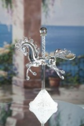 Hand Blown Glass Carousel Horse Hand Blown Glass Carousel Horse