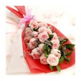 Hand Bouquet of roses pink Thomaston florist & Gre