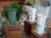 Hand built ceramic vases gift vase