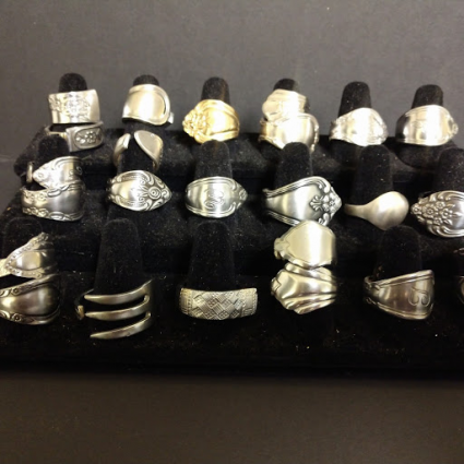 Hand crafted spoon rings