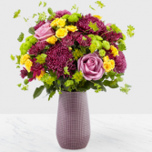 HAND GATHERED TEXTURED VASE BOUQUET