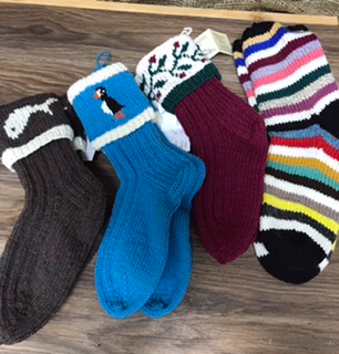 Hand knit wool socks Sets sold separately