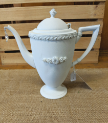 Hand Painted Silver Plated Water Pitcher/Planter Gift Item