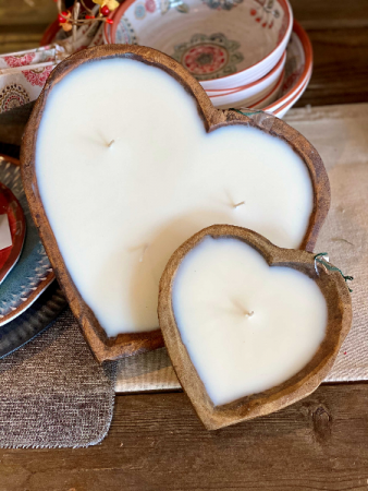 Hand Poured Heart Candles Gift