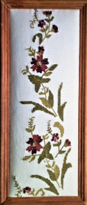 Hand needle point wall deco