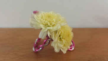 Hand Talk Too Floral Ring