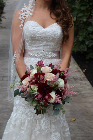 Hand-tied Bridal Bouquet   in Oakville, ON | ANN'S FLOWER BOUTIQUE-Wedding & Event Florist