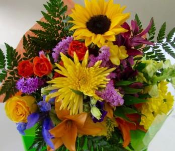 Hand-Tied Cut Flower Bouquet