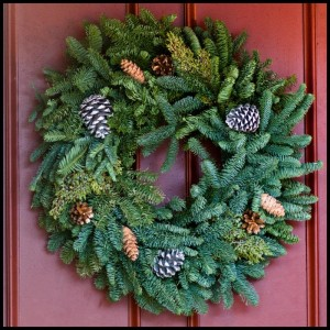 Hand Tied Mixed Green Wreath Christmas Wreath