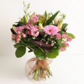 Hand Tied Pinks European Hand Tied Cut Bouquet (no vase)