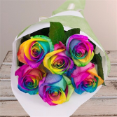 Hand Tied Rainbow Roses