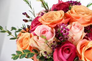 hand tied rose bouquet hand-tied Bouquet in Clifton, NJ | Days Gone By Florist