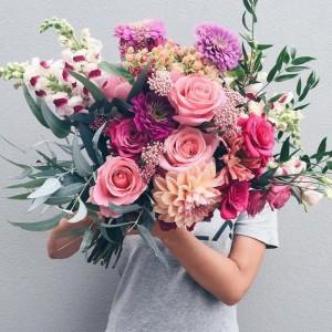 Hand-tied Seasonal Flowers  Bouquet !