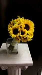 Hand-tied sunflowers