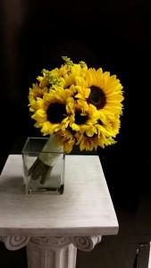Hand-tied sunflowers
