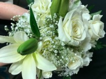 Hand Tied White Prom Flowers