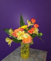 handblown glass vase arrangement Hand made vase arrangement